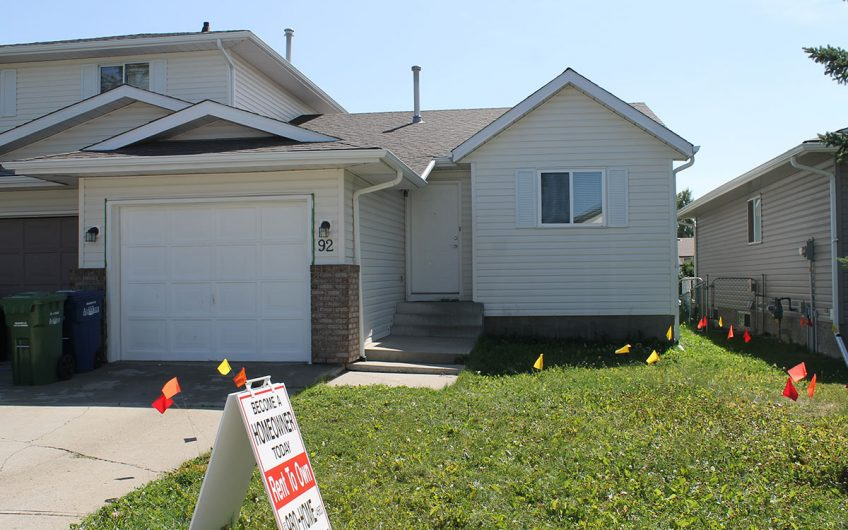 Airdrie: Newly Updated 3 Bedroom Bungalow Duplex with Attached Garage!